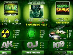 The Incredible Hulk 50 Lines slotmachine-77.com Playtech 2/5