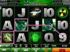 The Incredible Hulk 50 Lines slotmachine-77.com Playtech 4/5